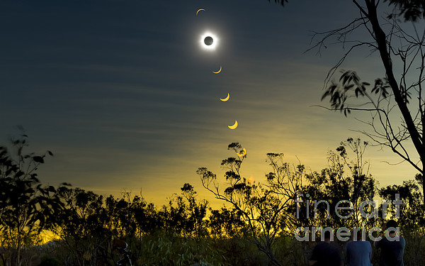 Eclipse Photograph - Solar Eclipse Composite, Queensland by Philip Hart