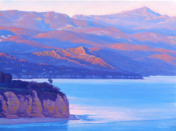 Point Dume Painting - Sunset Time Malibu by Elena Roche