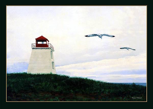 Lighthouse Painting - The Lighthouse by Ron Haist