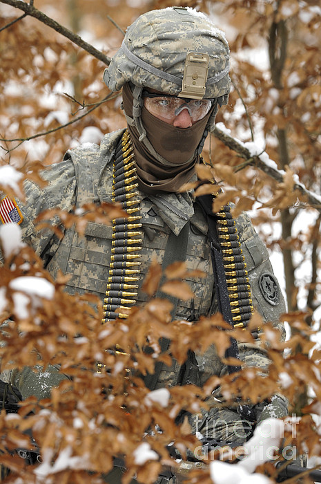 Military Photograph - U.s. Army Soldier Conducts A Dismounted by Stocktrek Images