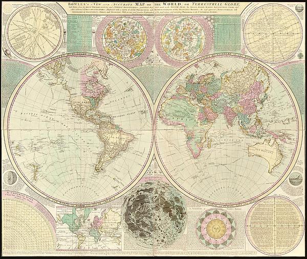 Antique Digital Art - World Map by Gary Grayson