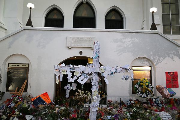 Charleston In Mourning After 9 Killed In Church Massacre Photograph by Joe Raedle