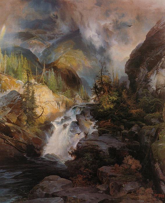 Thomas Moran Digital Art - Children Of The Mountain by Thomas Moran