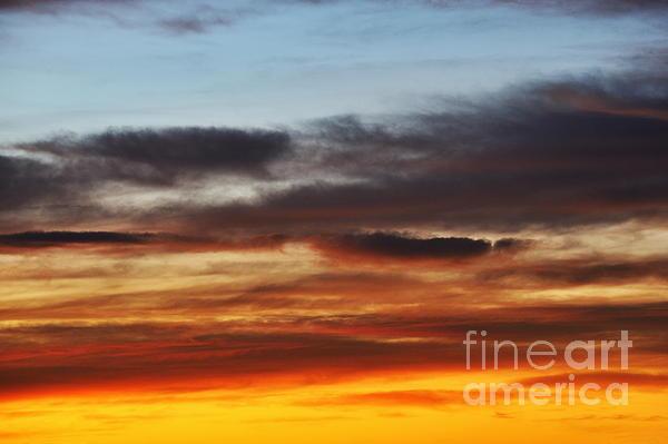 Air Photograph - Cloudscape At Sunrise by Sami Sarkis