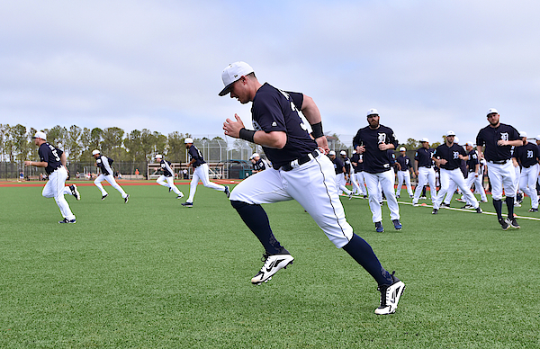 Detroit Tigers Workouts 3 Photograph by Mark Cunningham