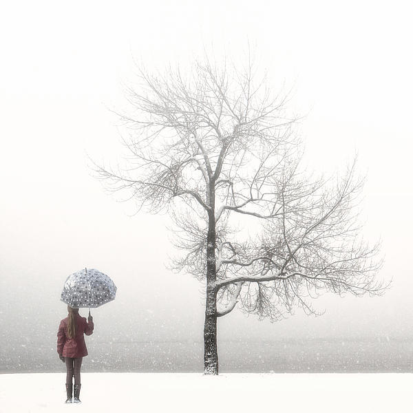 Girl Photograph - Girl With Umbrella by Joana Kruse