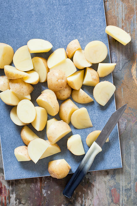Board Photograph - Potatoes by Tom Gowanlock