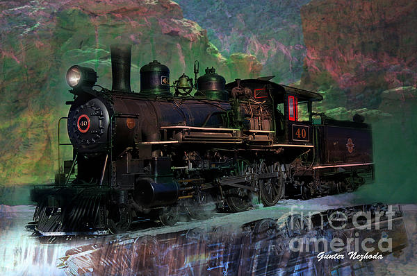 Steam Photograph - Steam Locomotive by Gunter Nezhoda