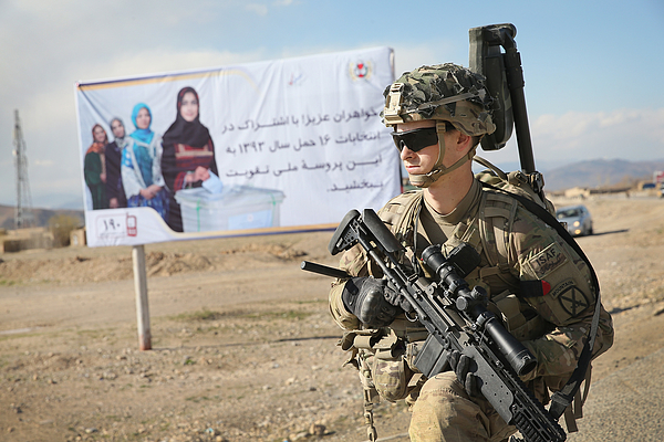 Us Troops Patrol Village In Afghanistans Logar Province Photograph by Scott Olson