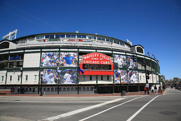 Addison Photograph - Wrigley Field - Chicago Cubs by Frank Romeo