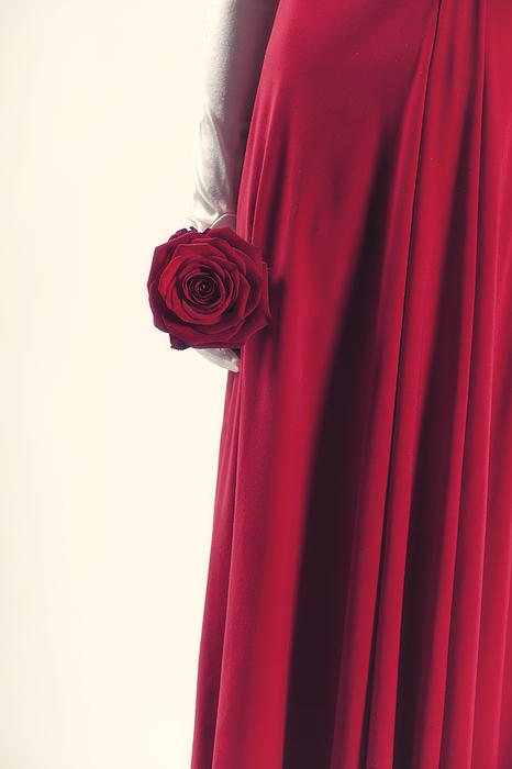 Woman Photograph - Red Rose by Joana Kruse
