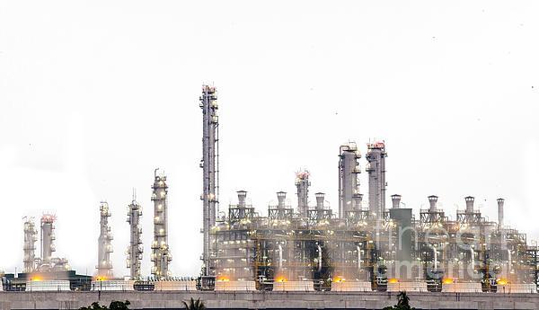 Chemical Photograph - Stream Power Plant  by Anek Suwannaphoom