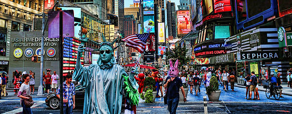 New York Photograph - Times Square On A Tuesday by Lee Dos Santos