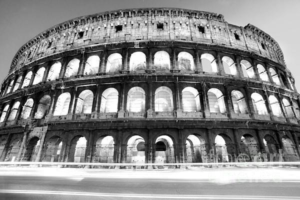 Column Photograph - The Majestic Coliseum - Rome by Luciano Mortula
