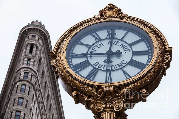 5th Avenue Clock Photograph - 5th Avenue Clock by John Farnan