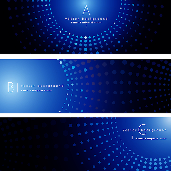 Abstract Background Banner Set Drawing by Simon2579
