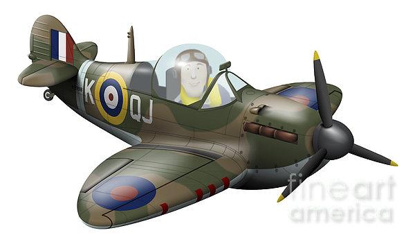 Vector Digital Art - Cartoon Illustration Of A Royal Air by Inkworm