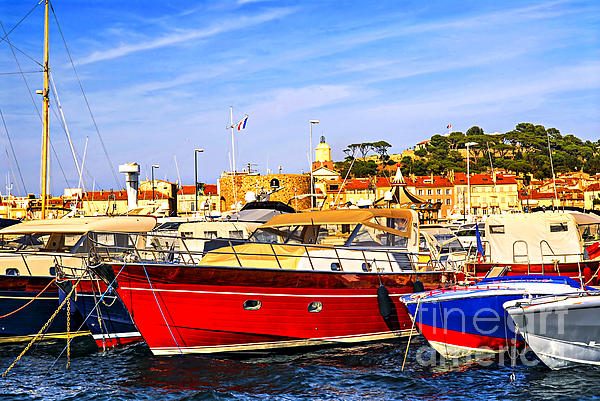 Yacht Photograph - Boats At St.tropez by Elena Elisseeva