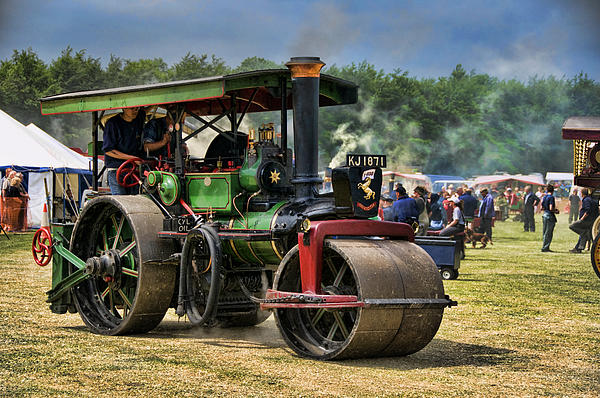 Steam Photograph - Traction Engine by Jeff Dalton