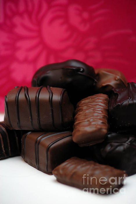 Be My Valentine Photograph - Chocolate Candies by Amy Cicconi