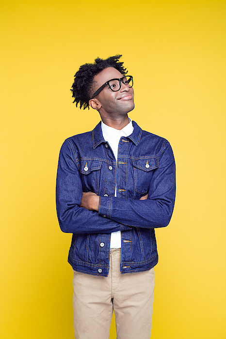 80s Style Portrait Of Happy Geeky Young Man Photograph by Izusek