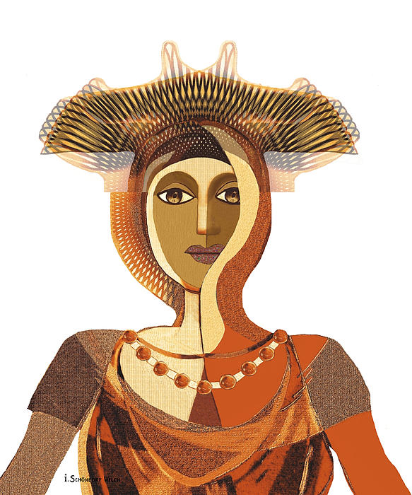 821 Painting - 821 - Byzantine Princess by Irmgard Schoendorf Welch