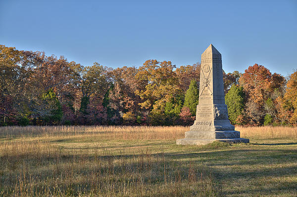 Shiloh National Military Park Photograph - 9th Indiana by Mike Talplacido