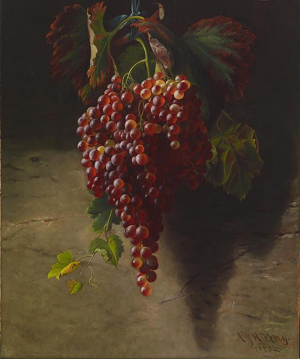 Andrew John Henry Way Digital Art - A Bunch Of Grapes by Andrew John Henry Way