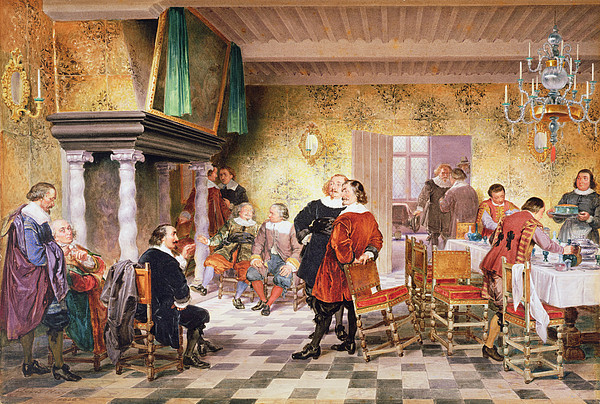 Brouwershuis Drawing - A Convivial Meeting Of The Brewers by Louis Haghe