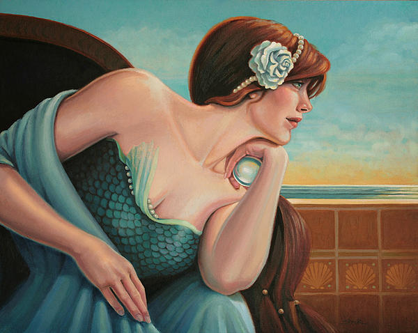 Crystal Ball Painting - A Different Dream by Susan Helen Strok