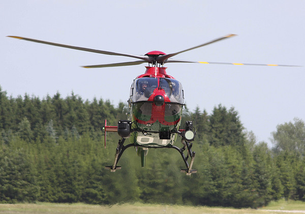 Horizontal Photograph - A Eurocopter Ec135 Used By German by Timm Ziegenthaler