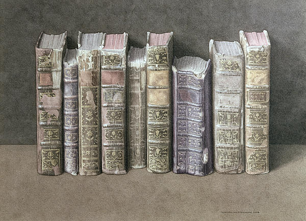 Books Painting - A Fine Library by Jonathan Wolstenholme