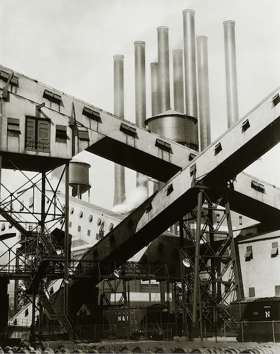 A Ford Automobile Factory Photograph by Charles Sheeler