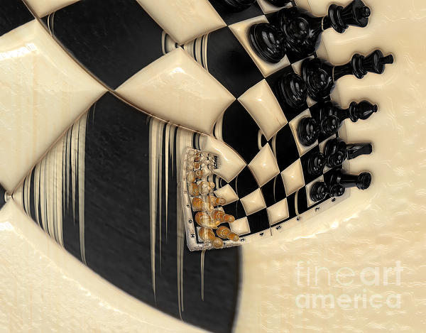 Piece Photograph - A Game Of Chess by Liane Wright