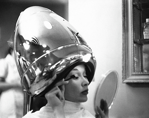 A Model In A Beauty Salon Photograph by Constantin Joffe