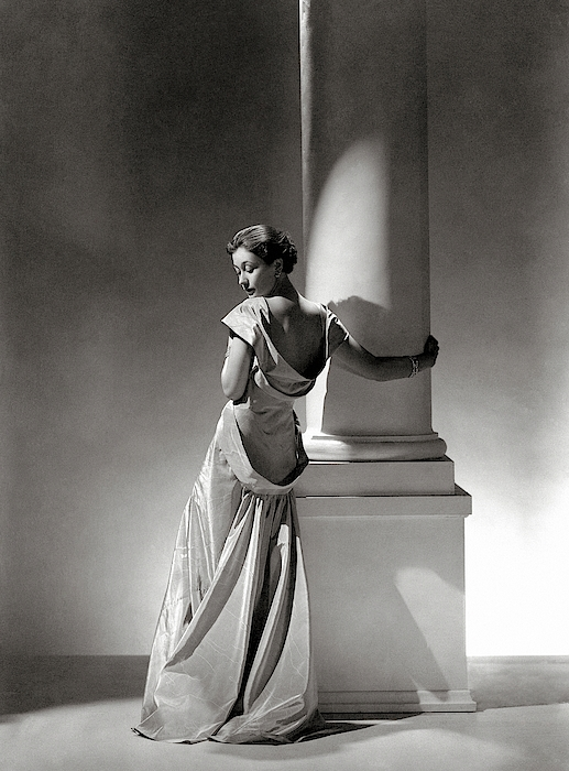 A Model In A Gown By Vionnet And Jewelry Photograph by George Hoyningen-Huene