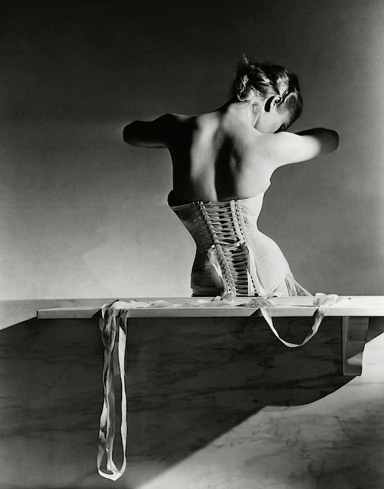 The Mainbocher Corset Photograph by Horst P Horst