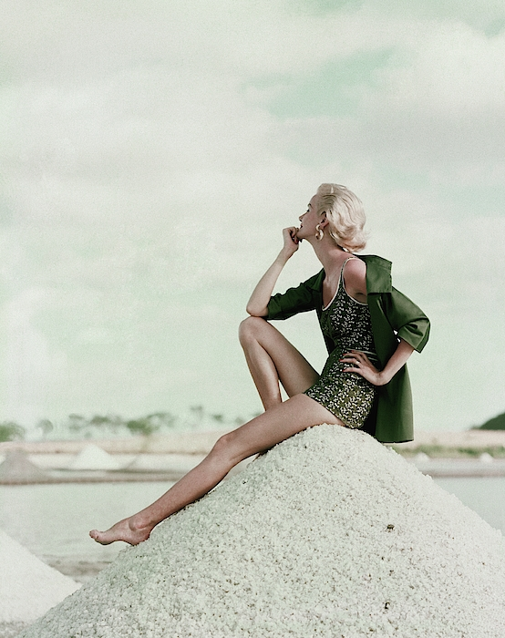 A Model Wearing A Swimsuit And Jacket Photograph by Leombruno-Bodi