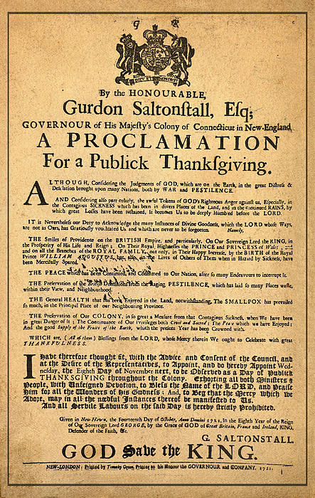 Proclamation Photograph - A Proclamation Of Thanksgiving by Bill Cannon