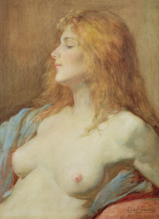 Nude Painting - A Redhead by John Edward Goodall
