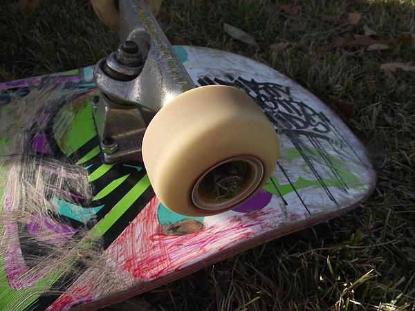 Pink Photograph - A Skateboards True Colors by James Rishel