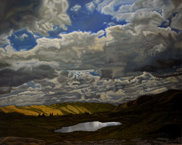 Oil Painting - A Summer Day On Cottonwood Pass by Thu Nguyen