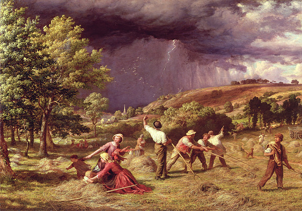 Storm Painting - A Thunder Shower, 1859 by James Thomas Linnell