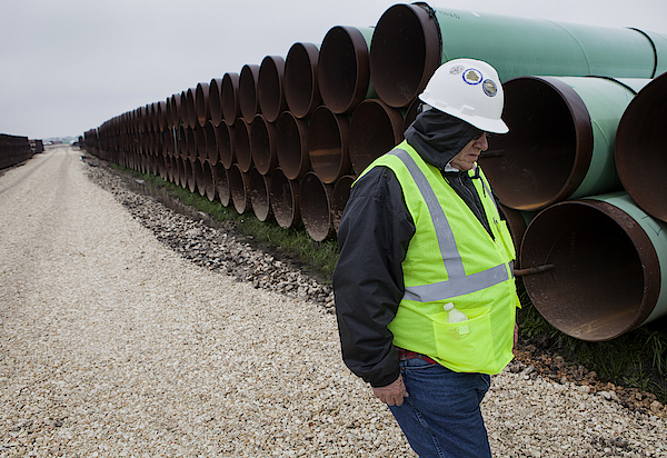 A Tour Of The Transcanada Houston Lateral Project Pipe Yard Photograph by Bloomberg