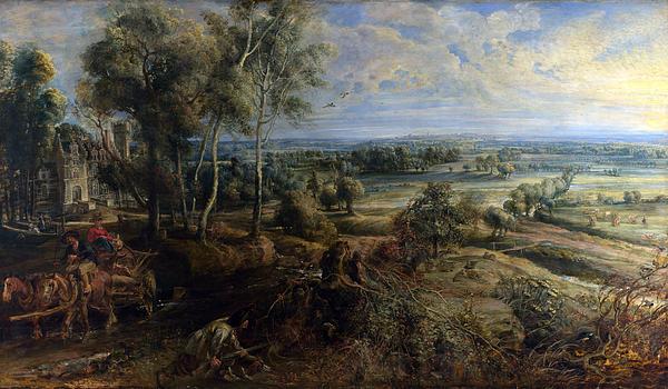 Peter Paul Rubens Digital Art - A View Of Het Steen In The Early Morning by Peter Paul Rubens