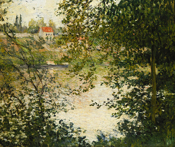 Claude Monet Painting - A View Through The Trees Of La Grande Jatte Island by Claude Monet