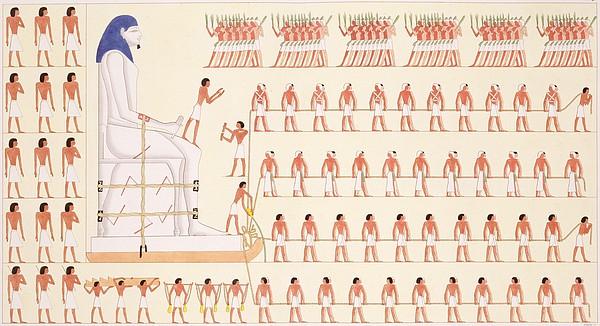 Slaves Drawing - A Wall Painting At Beni Hasan Depicting by Frederic Cailliaud