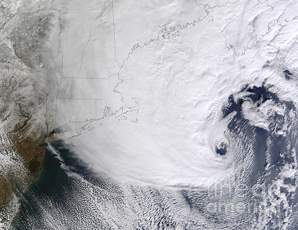 Snowstorm Photograph - A Winter Storm Over Eastern New England by Stocktrek Images