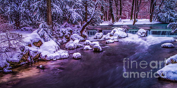 Creek Photograph - a winters tale II - hdr by Hannes Cmarits