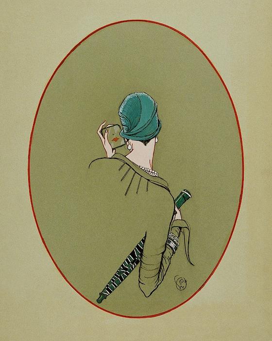 A Woman Looking In A Mirror Digital Art by Porter Woodruff